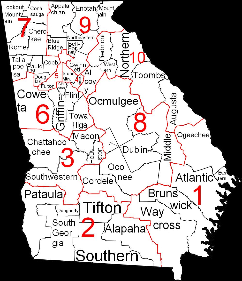 Georgia Judicial Circuits and Districts Map | Pataula Judicial Circuit
